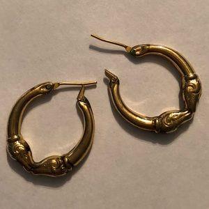 Jewelry - 14K Gold Rams Head Hoops